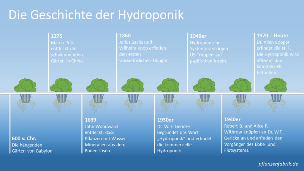Geschichte der Hydroponik